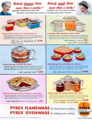 Pyrex ware. Mother's Day