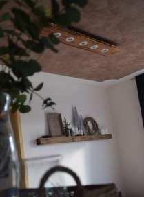 Holzlampe mit Spots