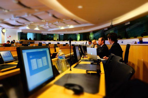 Trabajos en el Parlamento Europeo. Foto: Matthias Ripp / Flickr Creative Commons.