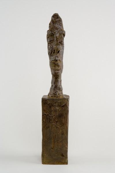 Alberto Giacometti. Cabeza sin cráneo c.a. 1958 Bronce.
