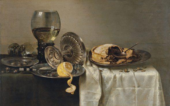 Willem Claesz. Heda Bodegón con pastel de frutas y diversos objetos 1634. Colección Museo Thyssen.