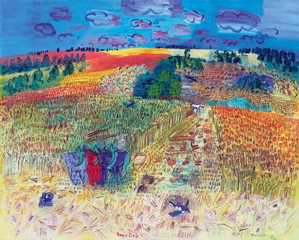 El campo de trigo, 1929. Óleo sobre lienzo. 130 x 162 cm. Tate. Bequeathed by Mrs A.F. Kessler 1983. © Tate London, 2014. © Raoul Dufy, VEGAP, 2015.