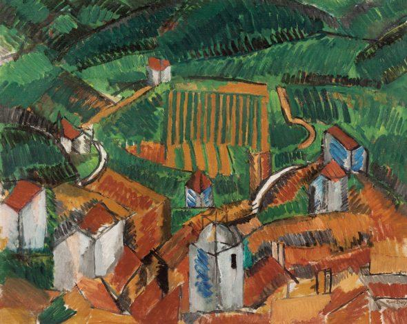 Paisaje de Vence, 1908. Óleo sobre lienzo. 65 x 81 cm. Musée d'Art moderne de la Ville de Paris, París.  © Raoul Dufy, VEGAP, Madrid, 2015.