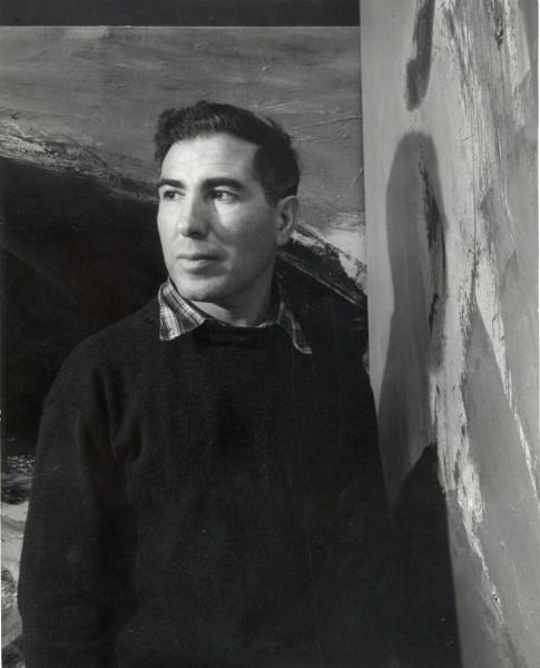 Cartel realizado con motivo de la exposición The Presence of Black: New Paintings en la Galería Betty Parsons de Nueva York, 1958, Archivo José Guerrero.