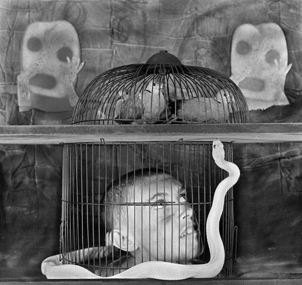 'Caged'. © Roger Ballen.