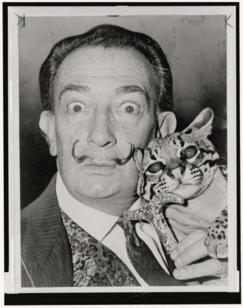 El gran genio del Surrealismo español, Salvador Dalí. /World Telegram & Sun photo by Roger Higgins; image courtesy of the Library of Congress.