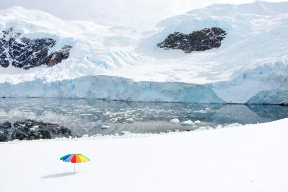 Fotografía de la serie Antártica de Gray Malin.