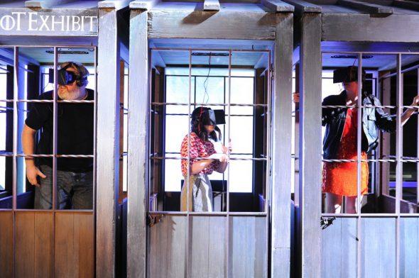 Escalada del Muro en realidad virtual. Foto cortesía de Canal +