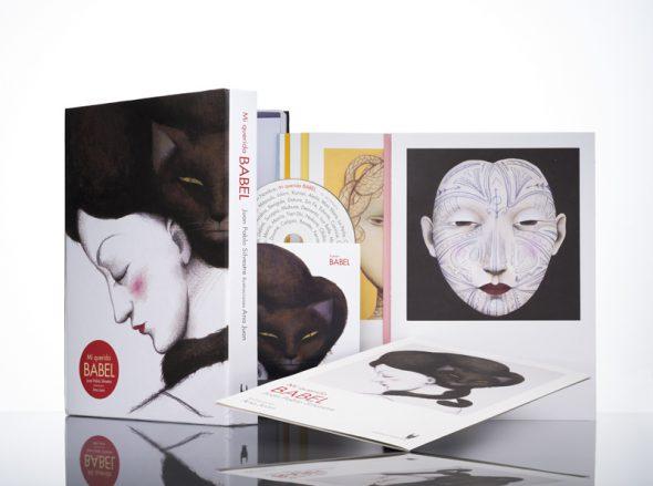 El libro, disco, ilustración Babel.