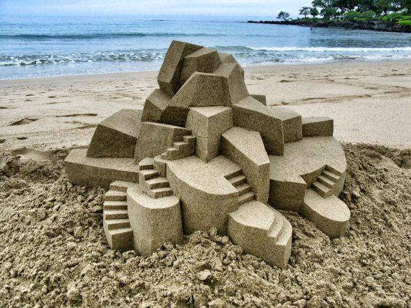 Castillo de arena de Calbin Seibert.