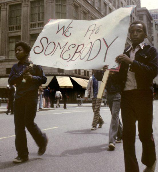 Reivindicaciones por las calles de Manhattan. Fotografía: Steven Siegel.