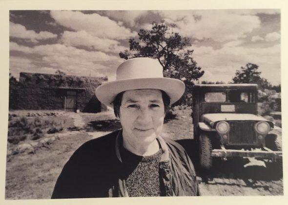 Retrato dd Agnes Martín. Foto: Gianfranco Gorgoni.