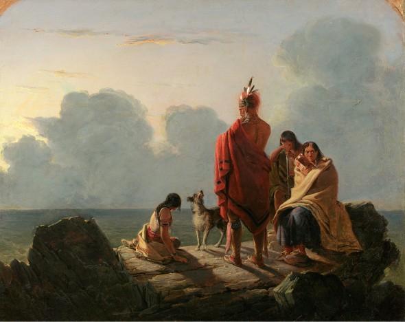 Tompkins Harrison Matteson. 'El último de su raza, 1847. The New York Historical Society.