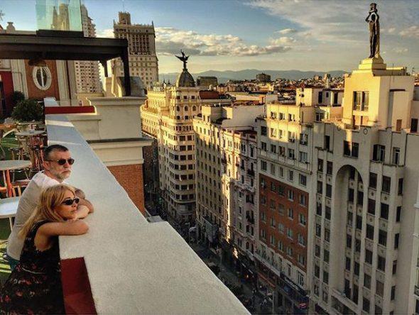 Azoteas sobre la Gran Vía de Madrid. Foto: Manuel Cuéllar.