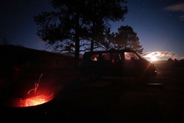 Así pasaban algunas noches. Esta fotografía se tomó en Estados Unidos. Foto: Andoni Canela.