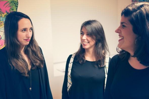 De izquierda a derecha, Ana San Frutos, Eugenia y Aída.