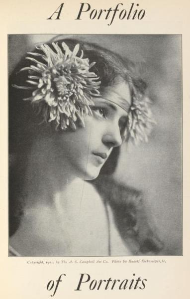 Un porfolio de retratos de Rudolf Eickemeyer, 1862-1932.