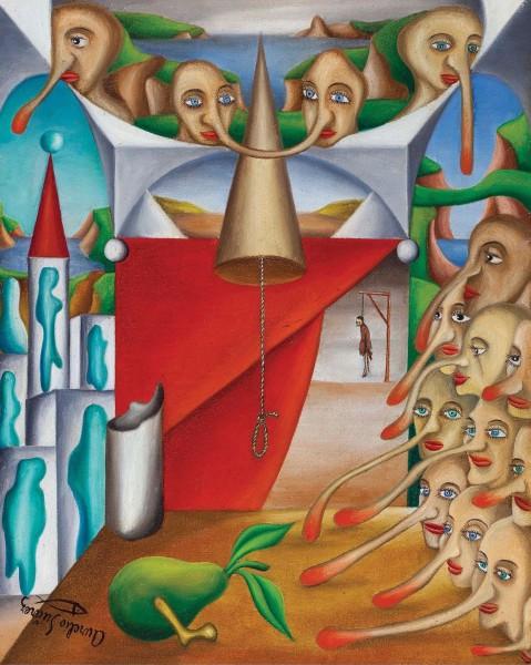 Aurelio Sánchez. 'Olor de soga', 1947. Óleo sobre lienzo. Guillermo de Osma, Madrid.