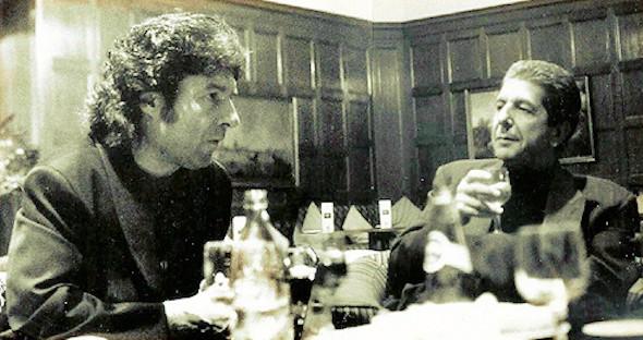 Enrique Morente y Leonard Cohen en 1993.