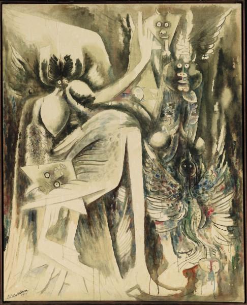 'Divinidad del aire y de la muerte'. Wifredo Lam. Colección María Graciela y Luis Oberto.