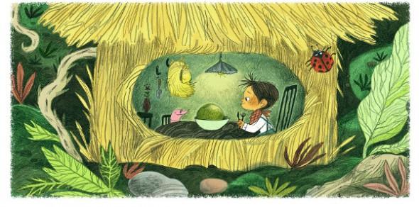 Ilustración de 'El pequeño jardinero'.