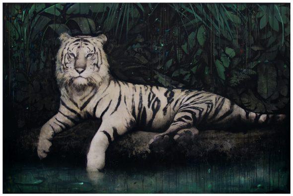 David Morago. 'Tigre'. Óleo sobre lienzo.
