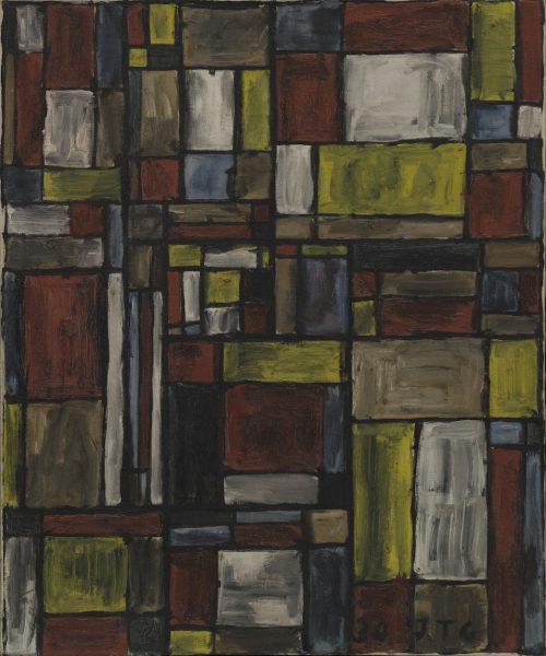 Joaquín Torres-García. Estructura en color. 1930. The Museum of Modern Art, New York. The Sidney and Harriet Janis Collection (by exchange), 2004. © Sucesión Joaquín Torres-García, Montevideo 2016.