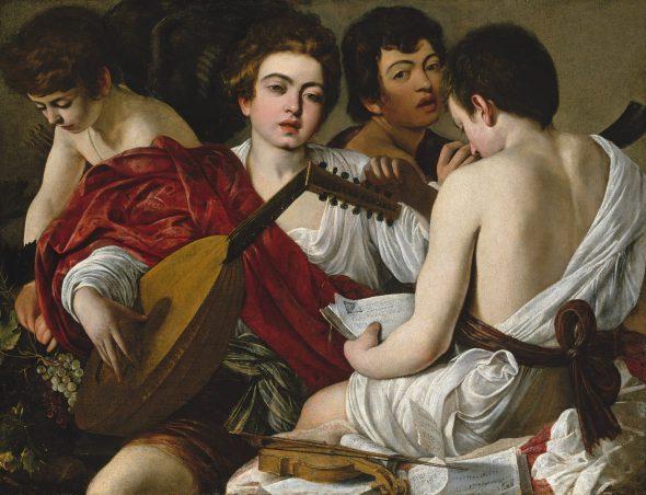 Michelangelo Merisi Caravaggio Milán, 1571-Port'Ercole, 1610 Los músicos, hacia 1596-1597 The Musicians Óleo sobre lienzo. 91 x 118,4 cm Nueva York, The Metropolitan Museum of Art, Rogers Fund