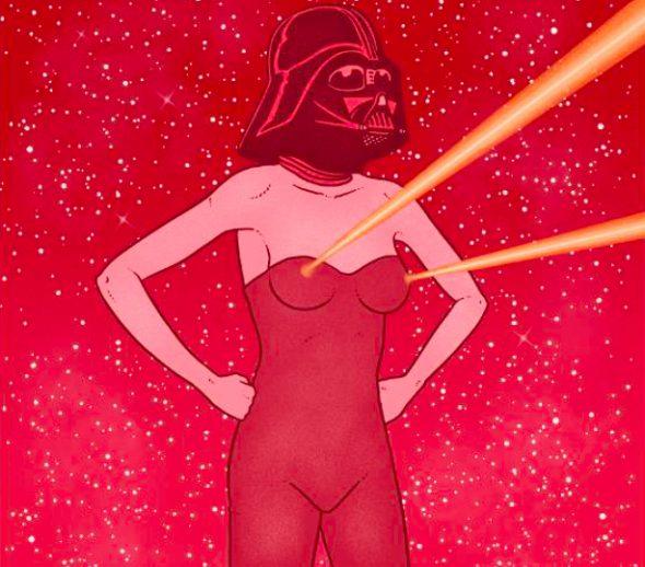 Imagen del cartel promocional del festival Princesas y Darthvaders en La Casa Encendida.