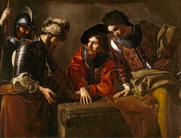 Nicolas Tournier Montbéliard, 1590-Toulouse, 1639 Jugadores de dados, hacia 1623-1624 Dice Players Óleo sobre lienzo. 127 x 172,5 cm Reino Unido, Attingham Park, The Berwick Collection (The National Trust)