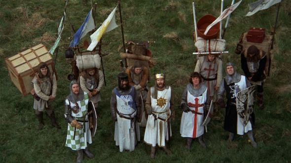 Fotograma de la película 'Los caballeros de la mesa cuadrada'.
