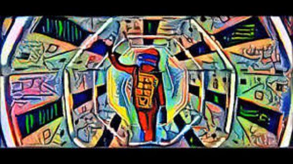 Un fotograma de 2001: una odisea en el espacio pasada por el filtro de Picasso.