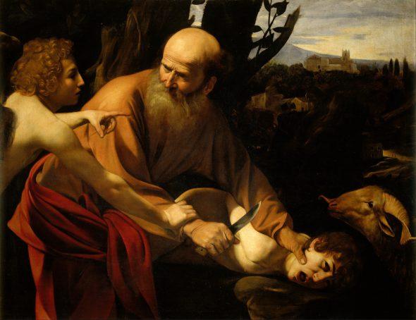 Michelangelo Merisi Caravaggio. El sacrificio de Isaac. Óleo sobre lienzo. Florencia, Gallerie degli Uffizi.