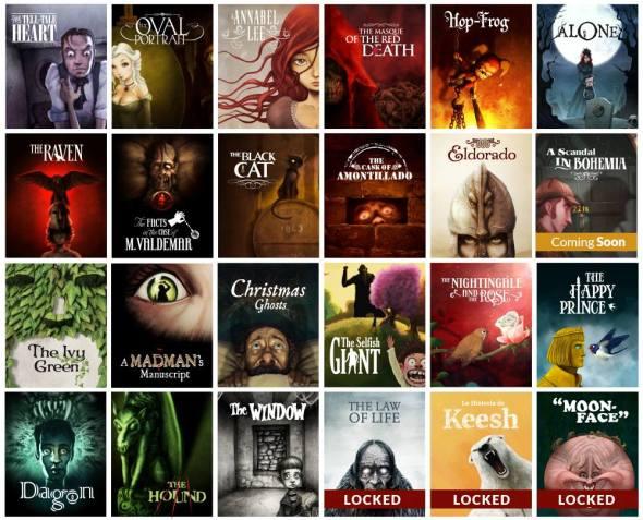 Algunos títulos de la colección de IClassics. Están todos en castellano.