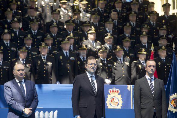 El Presidente del Gobierno, Mariano Rajoy, preside la inauguración del Memorial por las víctimas del terrorismo del Cuerpo Nacional de Policía Fotografía: Diego Crespo / Moncloa Presidencia del Gobierno