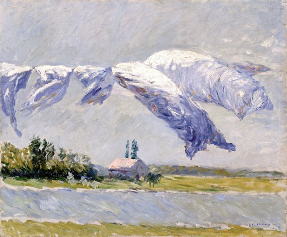 Ropa blanca secándose, Petit Gennevilliers, 1888 (Laundy Drying, Petit Gennevilliers) Óleo sobre lienzo. 54 x 65 cm Colección privada