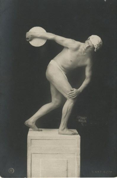 Discóbolo. Fotografía realizada en Berlín en 1910.