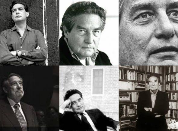 Collage de fotografías de Octavio Paz. Todas las imágenes bajo licencia CC.