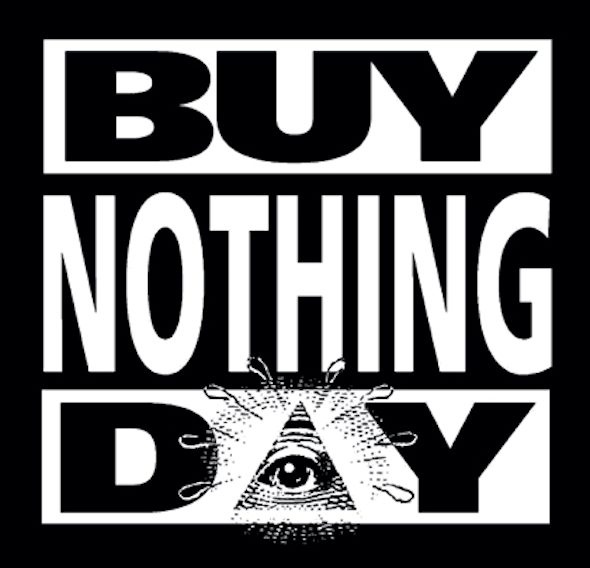 Imagen del 'Buy Nothing Day'.
