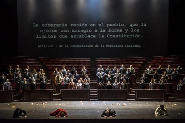 Escena final de Las vísperas sicilianas en El Palau de Les Arts.