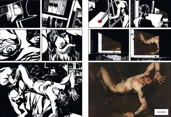 Dos páginas del nuevo cómic sobre Ribera editado por el Museo del Prado.