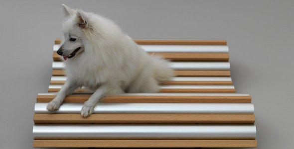 Cama refrigerante canina creada por Hiroshi Naito. Fotografía: Hiroshi Yoda, Architecture for Dogs