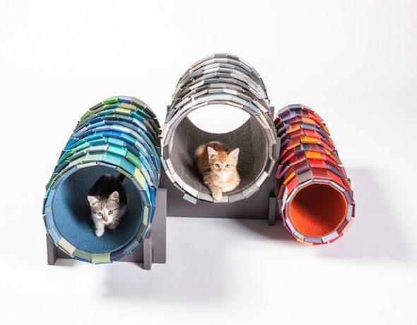Túneles para gatos callejeros, creados por NAC Architecture. /Foto: Grey Crawford, Architects for animals.