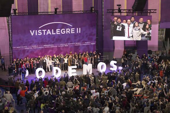 Un momento del congreso de Podemos en Vistalegre este fin de semana. Foto: Liliana Peligro.