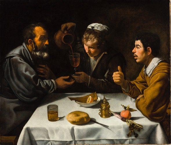 Velázquez. 'El almuerzo' hacia 1618-1619. Budapest, Museo de Bellas Artes