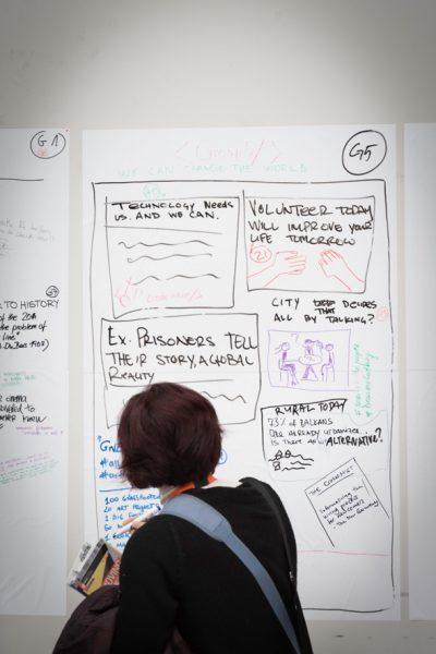 Pizarras de ideas en Idea Camp 2017. Foto: César Lucas Abreu.