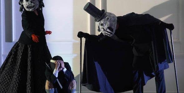 Una escena de Rodelinda. Los monstruos de la mente de Flavio se hacen presentes. Foto: Javier Del Real.