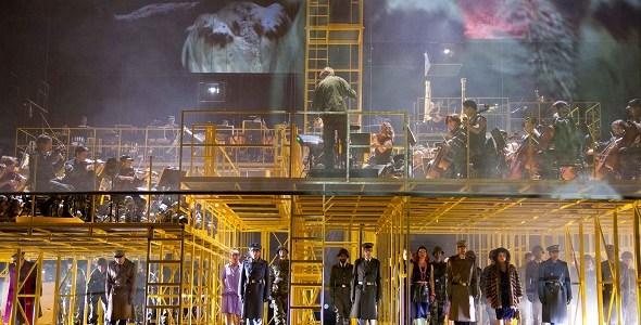 Una escena de Die Soldaten de Bern Alois Zimmermann, una de las óperas que el Real ha programado en su nueva temporada. foto: Monika Ritterhaus / Opernhaus Zürich.