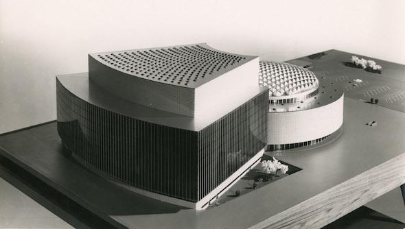 Proyecto para edificio de la Ópera Nacional de España de Miguel Fisac. Foto: Focco. Cortesía de Proyecto de Investigación Fotografía y Arquitectura Moderna en España. FAME.