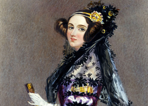 Retrato de Ada Lovelace.